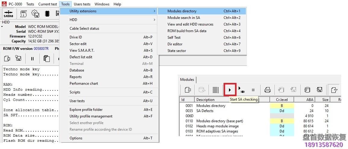 如何使用pc-3000-hdd找出西部数据wd-marvell硬盘的问题所在 如何使用PC-3000 HDD找出西部数据WD Marvell硬盘的问题所在