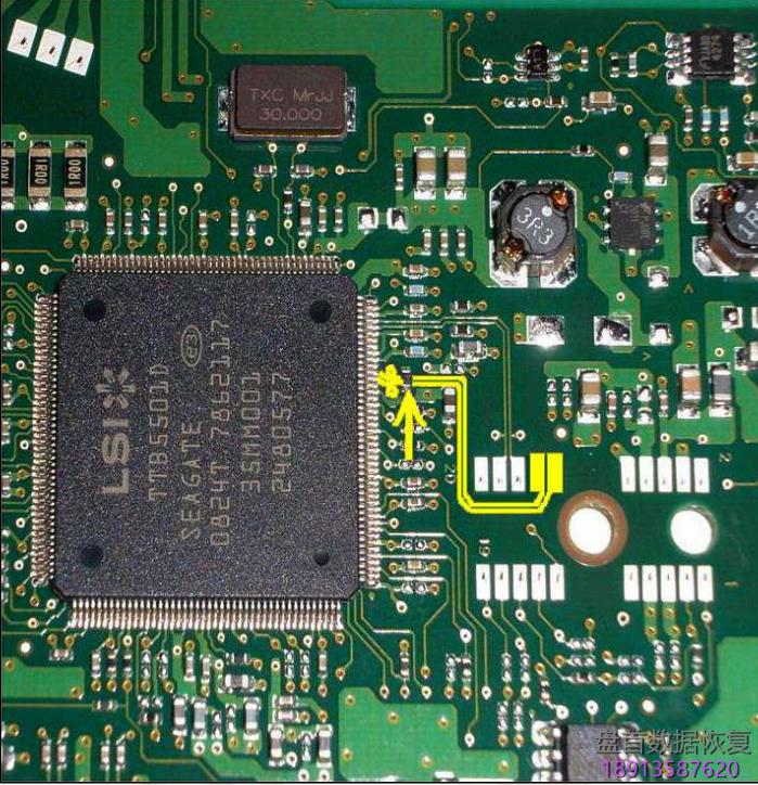 希捷f3系列硬盘的短接点在哪里?以及如何短接? 希捷F3系列硬盘的短接点在哪里?以及如何短接?