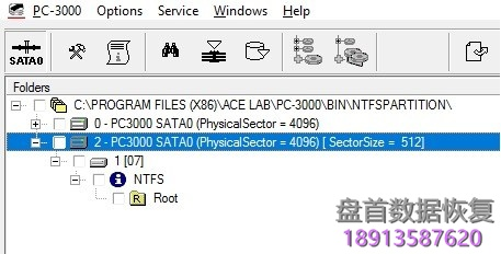 pc-3000-data-extractor手工展开ntfs分区 PC-3000 Data Extractor手工展开NTFS分区
