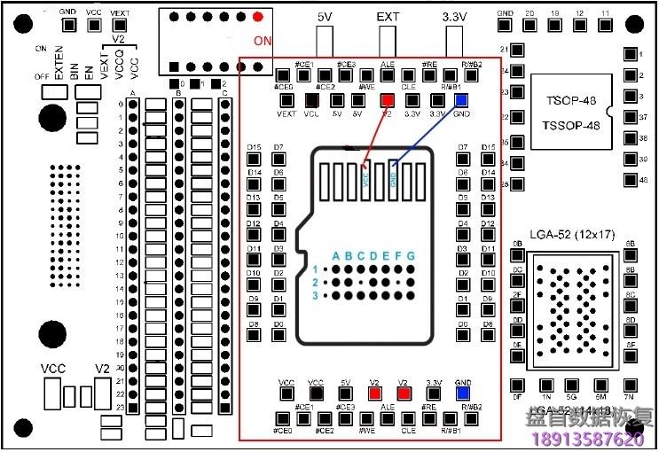 pc-3000-flash的电路板电源功能 PC-3000 Flash的电路板电源功能