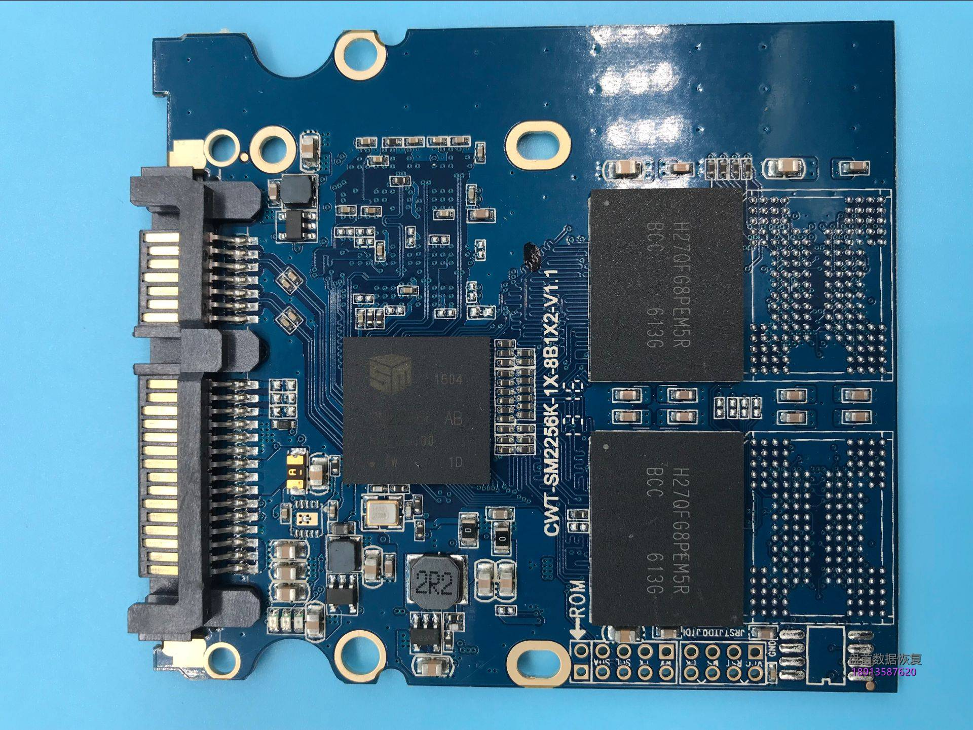 0-8 方正飞天240g掉盘不识别开机卡死在LOGO界面SM2256K主控数据恢复