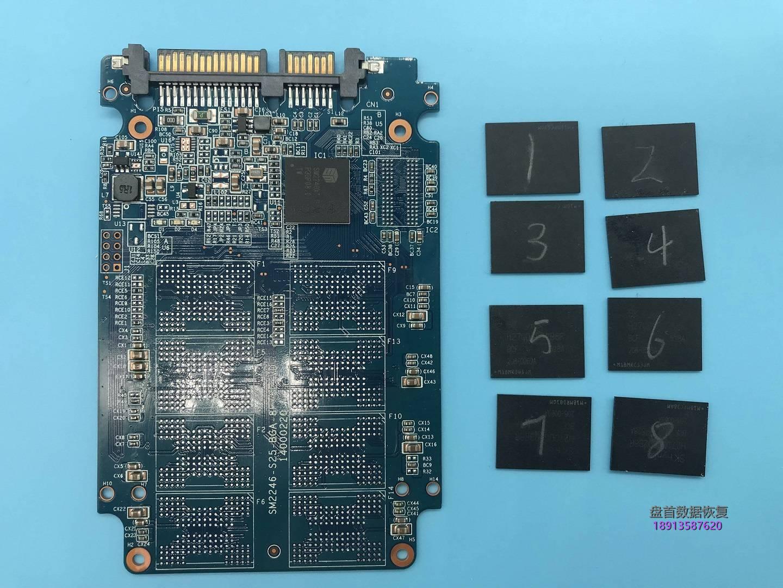 0-5 七彩虹SS150固态硬盘掉盘无法识别SM2246XT主控掉固件不读盘数据恢复成功
