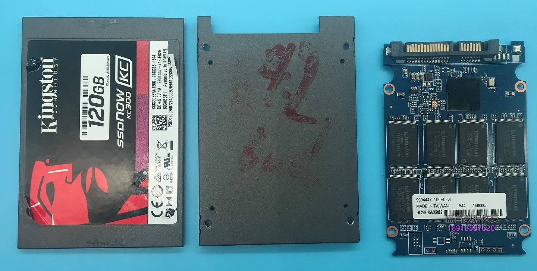 0-19 金士顿KC300固态硬盘SandForce系列SF-2281VB4主控SSD损坏后识别成SandForce(20026BB)0.0MB不读盘修复