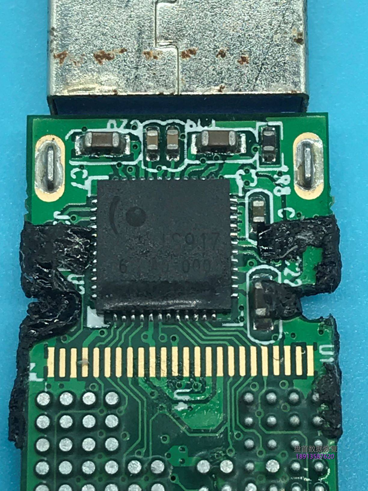 0-5 U盘打开提示请插入磁盘eaget忆捷16GU盘IS917主控芯片级数据恢复成功
