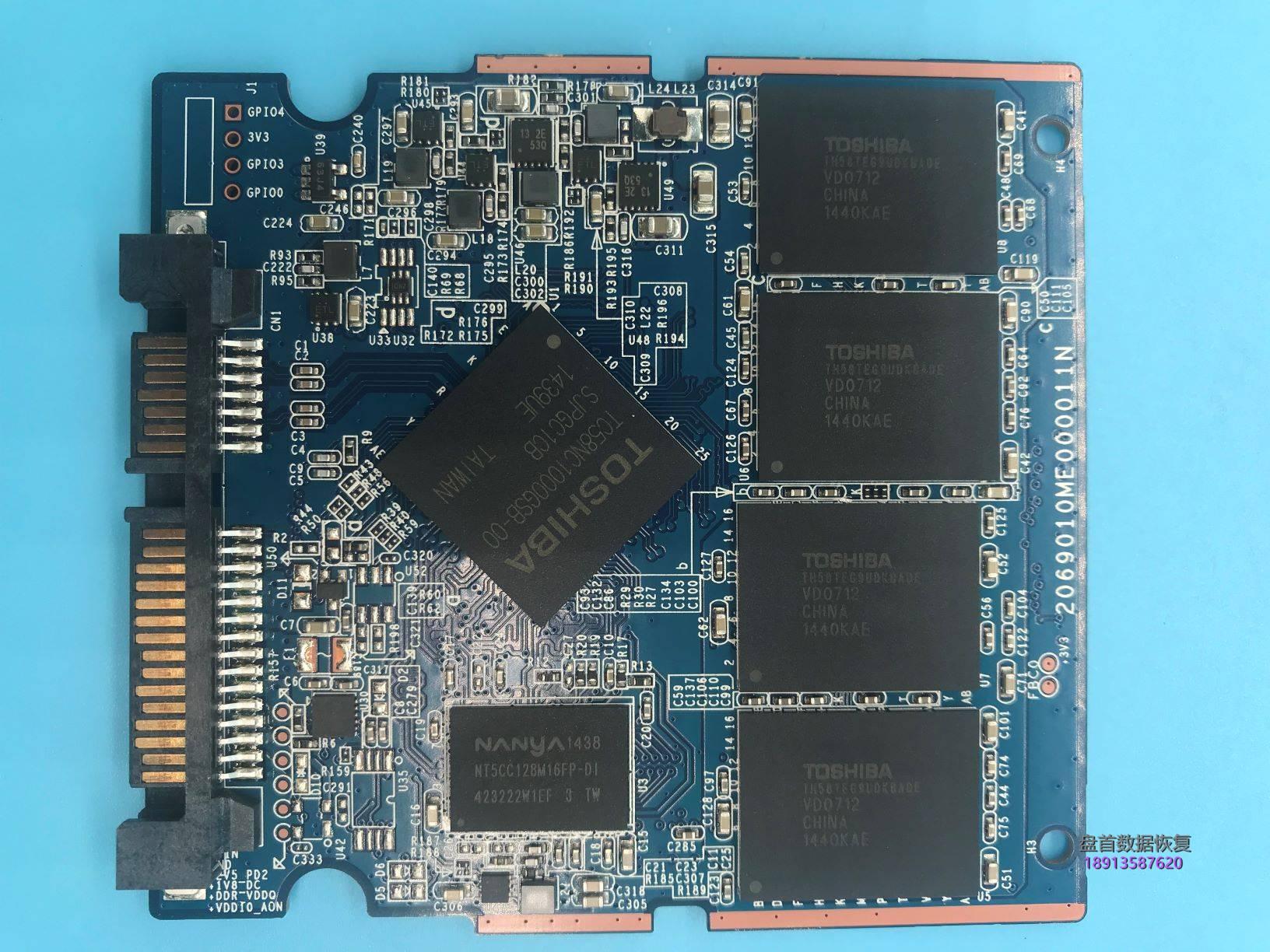 0-10 240G东芝Q300掉盘王TC58NC1000GSB-00掉盘无法识别SSD完美修复成功