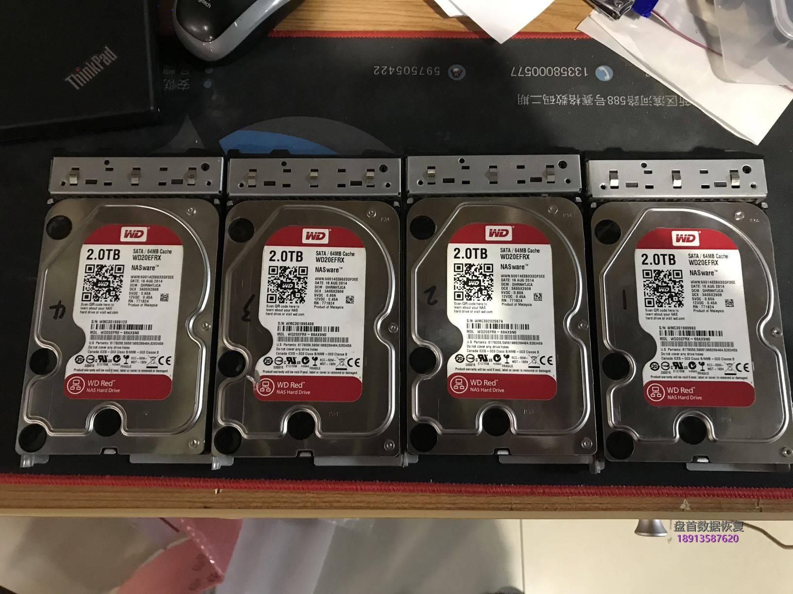 0-1 成功恢复4盘RAID5有1块硬盘损坏有1块盘离线导致服务器宕机