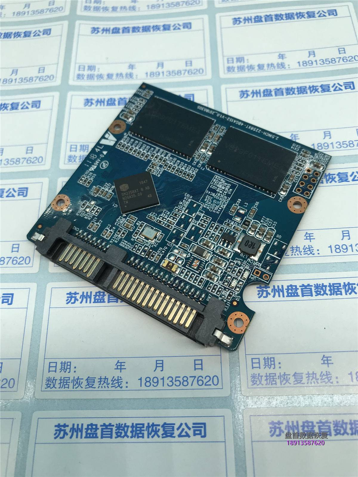0 SM2258XT主控九储480G固态硬盘掉盘无法识别不读盘数据恢复成功